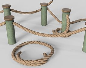 3D model Rope fences - PBR Game-Ready