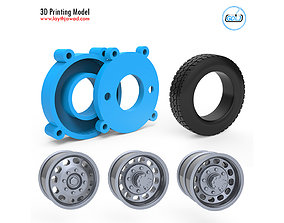 Truck Tire Mold With 3 Wheels 3D Printing Model