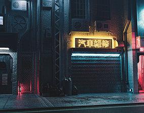 Sci-fi street 3D asset