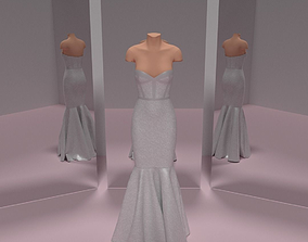 3D model Trumpet Wedding Dress