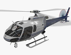 AS-350 Ontario Police Animated 3D asset