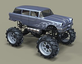 offroad 3D model Monster truck