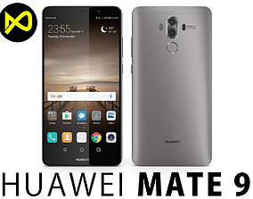 3D model Huawei Mate 9 Space Gray