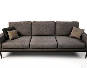 Scandinavian style Sofas and Armchair PBR Game 3D asset