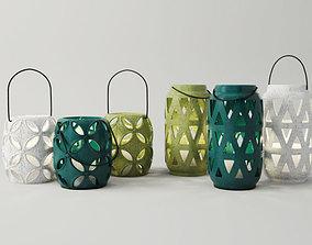 3D Lantern Candleholder Set