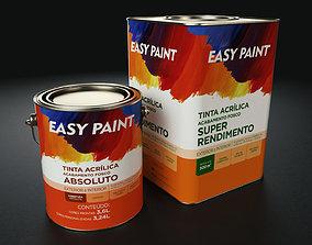 Metal Paint Bucket Pack 3D