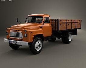3D model GAZ 53 Flatbed Truck 1965