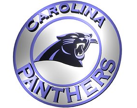 3D model Carolina Panthers disc