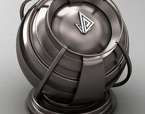 3D model VRAY SHADER---METAL---Hafnium