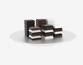 3D Chocolate Block Stack