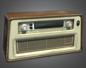 3D model ATT - Old Radio Antiques 02 - PBR Game Ready