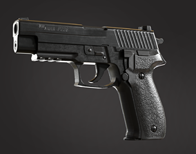 3D model game-ready Sig Sauer P226