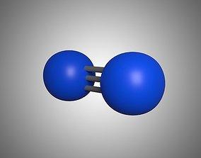 Molecule Nitrogen 3D model