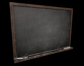 Chalkboard game ready asset - low poly 3D model