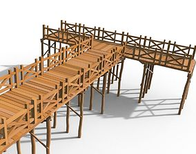 Wooden Pier 3D