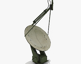 Military Radar Dish 3D asset low-poly