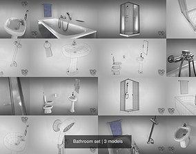 Bathroom set 3D house-ware