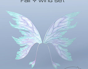 3D model Fairy or Butterfly Wing Set A