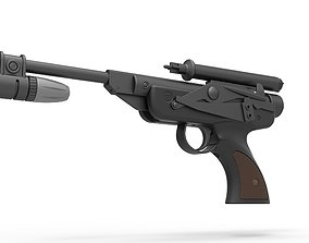 3D model Blaster pistol DL-18 from Star Wars Return Of The