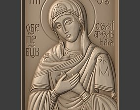 Orthodox Christian Icon of Mother of 3D printable model 1