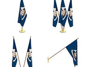3D Louisiana Flag Pack