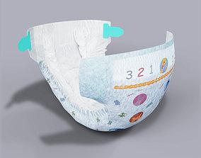 bottle 3D model Diaper