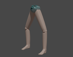 3D pufferfish with legs