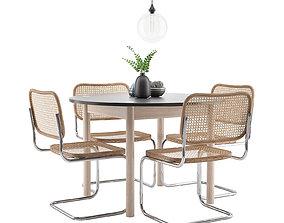 3D Dining Furnitures Set 17 skeidar