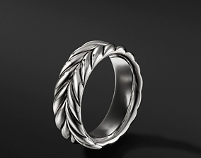David Yurman Chevron Band Rings in EU 3D printable model