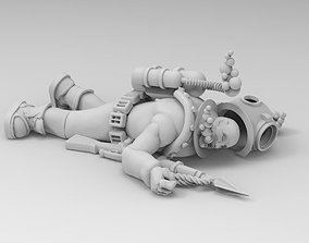 Vintage Deep Sea Diver Figure Dead or Dying -28mm Print 1