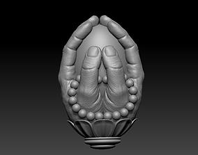 3D print model praying hands carving