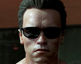 game-ready 3D model Arnold Schwarzenegger head