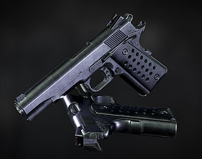 Colt 1911 low-poly Game ready 3D asset