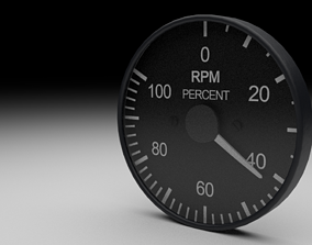 F16 RPM Gauge 3D