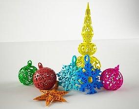 3D print model Special Christmas bundle 2017 snowman