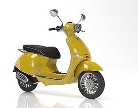 Vespa Sprint Yellow 3D model