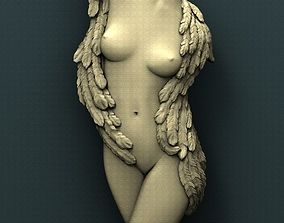 3d STL Model for CNC Router Walled Angel