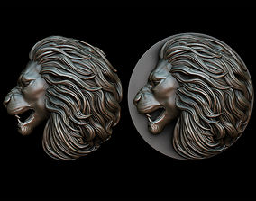 Lion pendant 2 - three versions 3D printable model