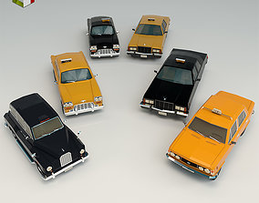 3D Low Poly Taxi Pack
