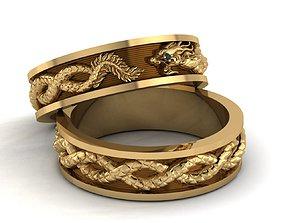 jewelry 3D print model Dragon ring