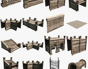 Modular Courtyard 3D asset