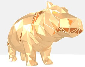 Polygonal Hippo Parametric 3D print model