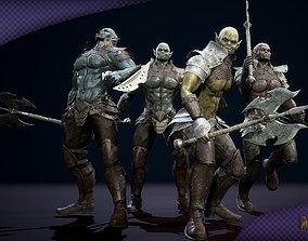 Orc Militant 3D asset animated