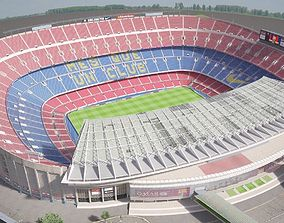 Camp Nou Barcelona Stadium 3D