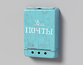 Mailbox 3D model realtime PBR