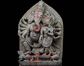 3D model Ganesh with 3 LOD - Nepal Heritage