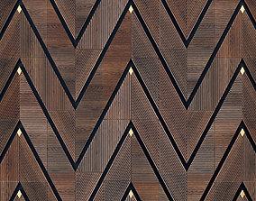 Decor wood Panel rhombus 2 3D model