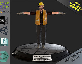 3D model Worker1 Animations Pack