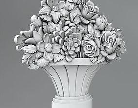 3D model Flower decor 7 wall
