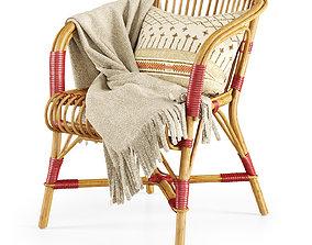 3D model Salvador rattan chair